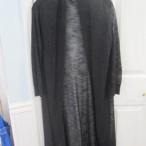 Calvin Klein Sheer Long Black Summer Cardigan XL